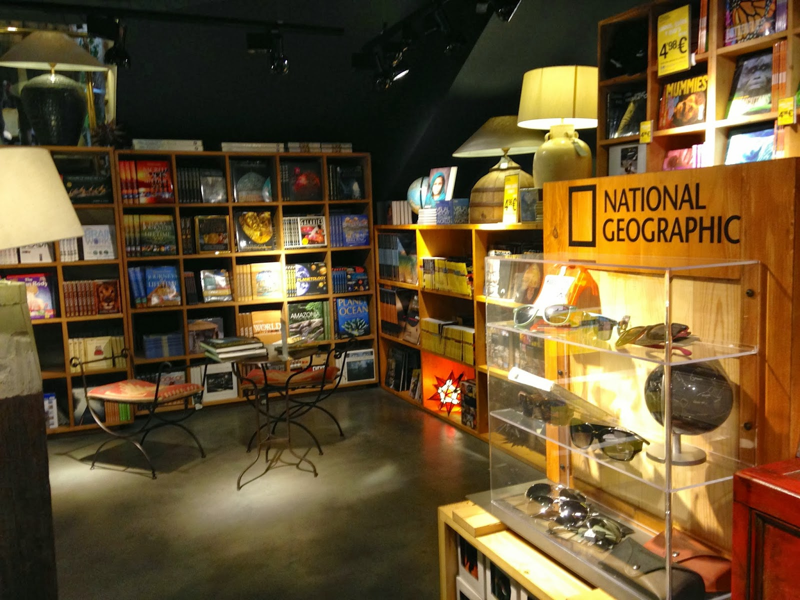 National Geographic Store In Madrid - New Menu