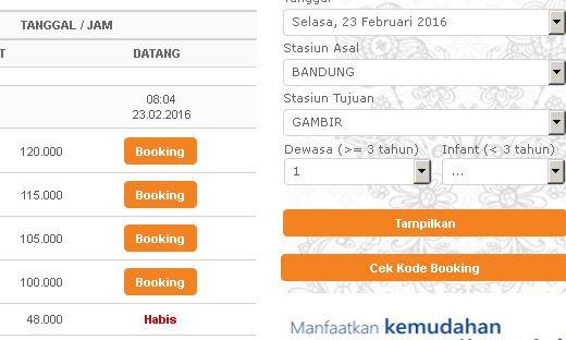 cara booking tiket kereta api online infonya kereta api rh train web id