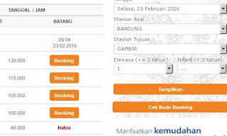 Cara Booking Tiket KAI Online