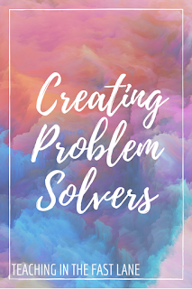 Five ideas for helping your elementary students to become problem solvers. #3 is my favorite!