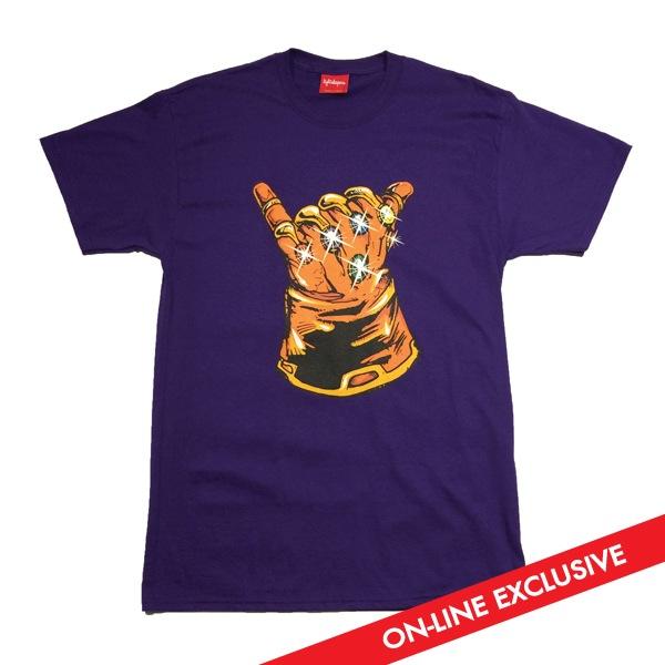 "c30e0e6bea88 Online Exclusive Marvel's Infinity Gauntlet ""Infinity Shaka"" T-Shirt by  Lightsleepers"
