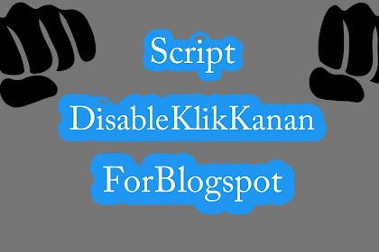 Cara Jitu Pasang Disable Klik Kanan Pada Blog dan website - Tips Pasang Disable Klik Kanan