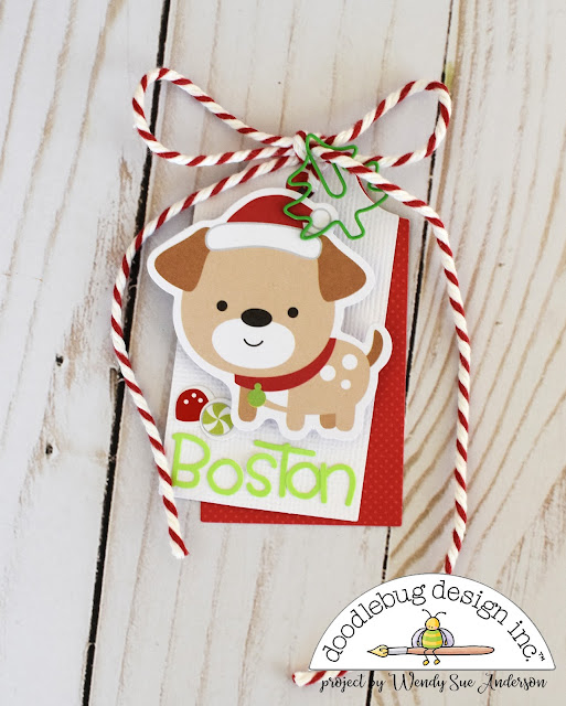 christmas gift tags by @WendySue for Doodlebug Design