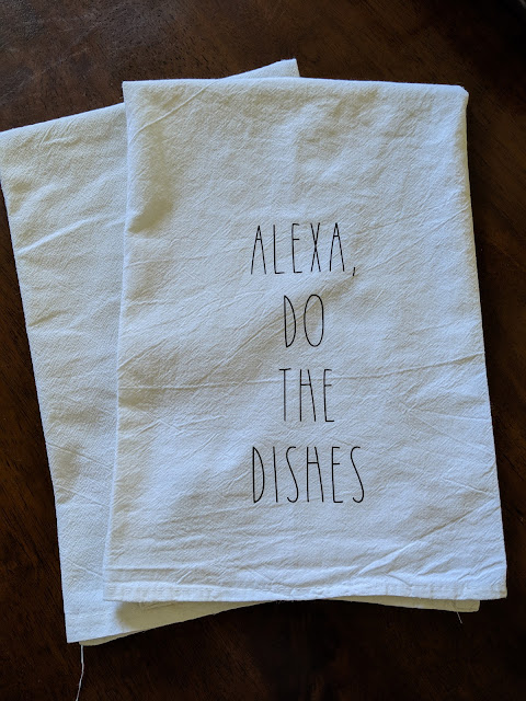 Alexa Do The Dishes Tea Towel www.kristenwoolsey.com