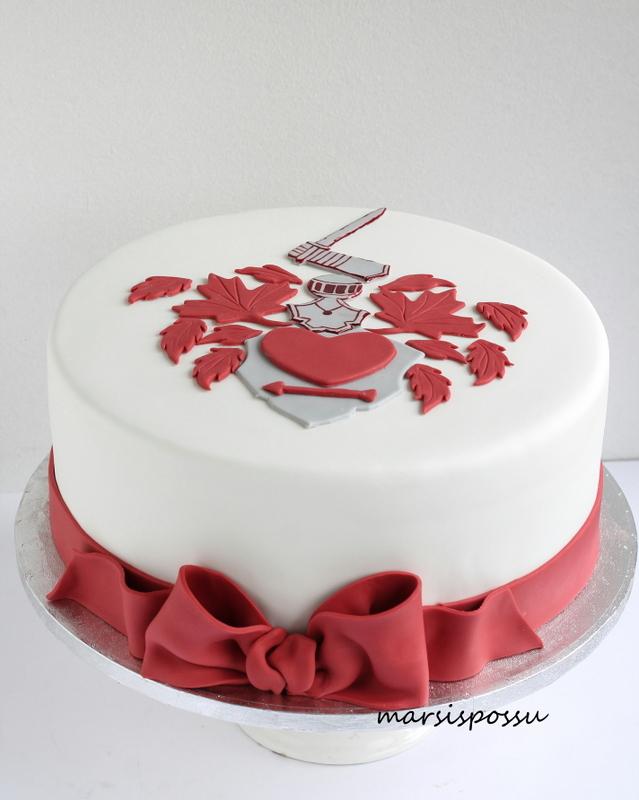 Vaakuna-aiheinen kakku