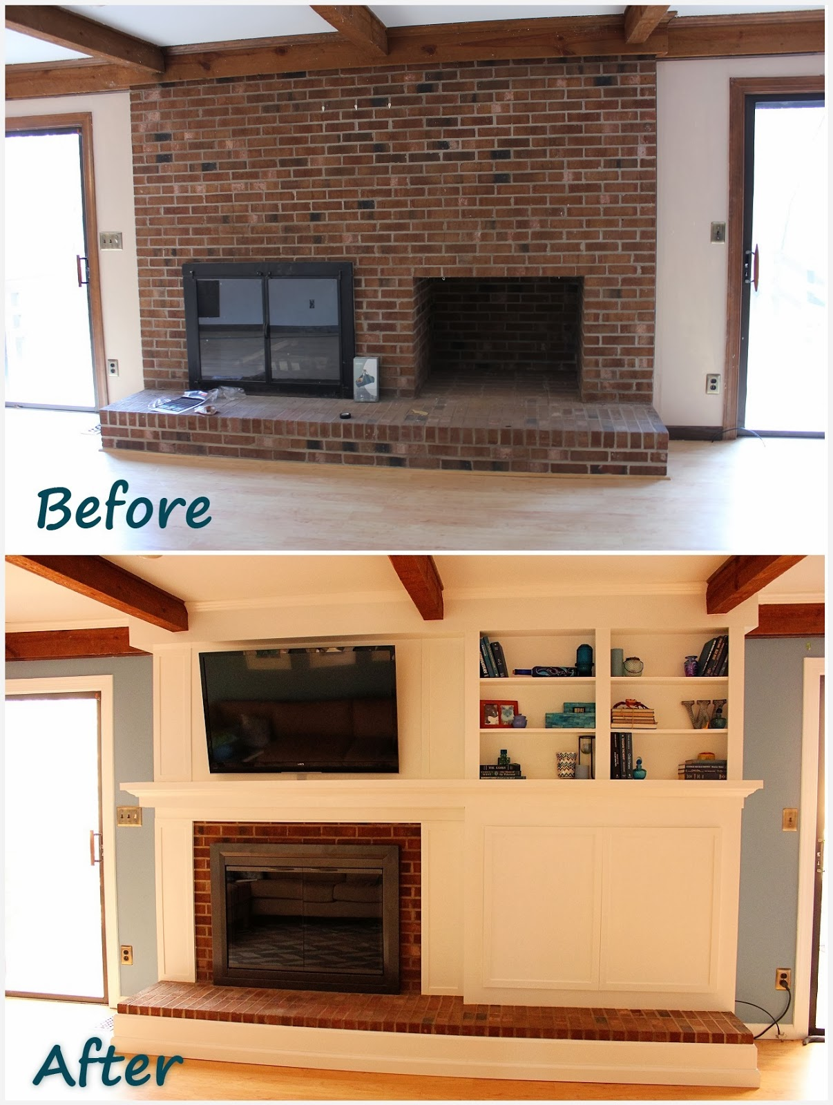 The handcrafted life the finale to building a fireplace - How to cover brick fireplace ...