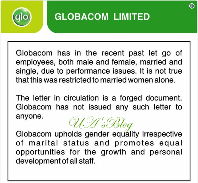 Globacom Denies Sacking Female Staff Due To Marital Status