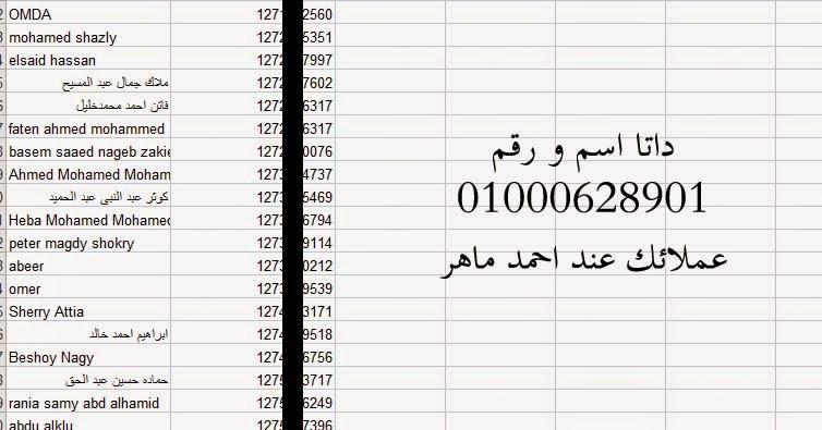 داتا ارقام