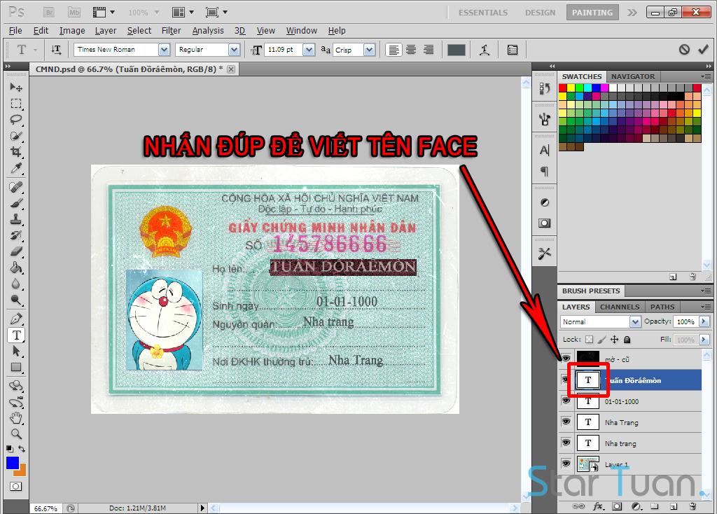 Hướng dẫn fake & Share File PSD Chứng minh nhân dân 2 mặt chuẩn