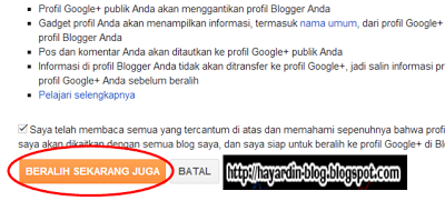 Cara Mengintegrasikan, mengganti atau Menghubungkan Profil Blogger dengan Profil Google Plus
