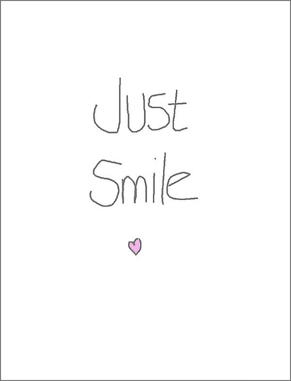 Quote Just Smile