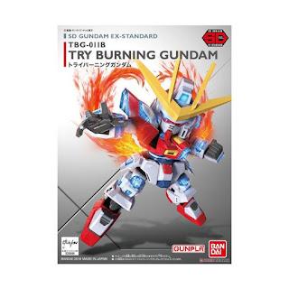 Bandai Gunpla-Gundam SD Ex-Standard 011 Try Burning Model Kit [09066 0475968]