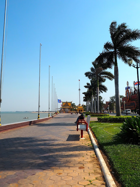 The riverside of Phnom Penh, Cambodia