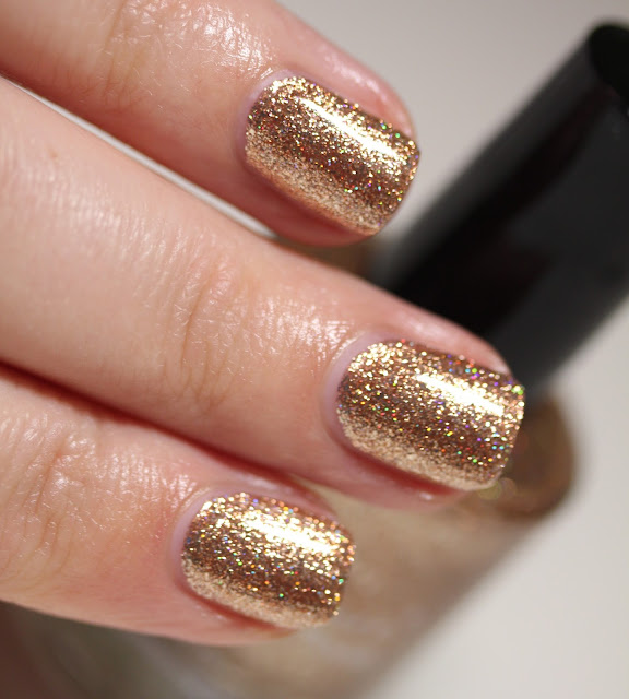 KBShimmer One Night Sand Rose Gold Glitter Nail Polish
