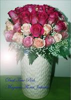 Mawar Bunga Warna Pink Ucapan Ulang Tahun