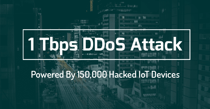World's largest 1 Tbps DDoS Attack launched from 152,000 hacked Smart Devices