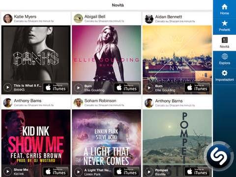Shazam riconosce la musica e i media intorno a te, si aggiorna alla vers 9.3.0