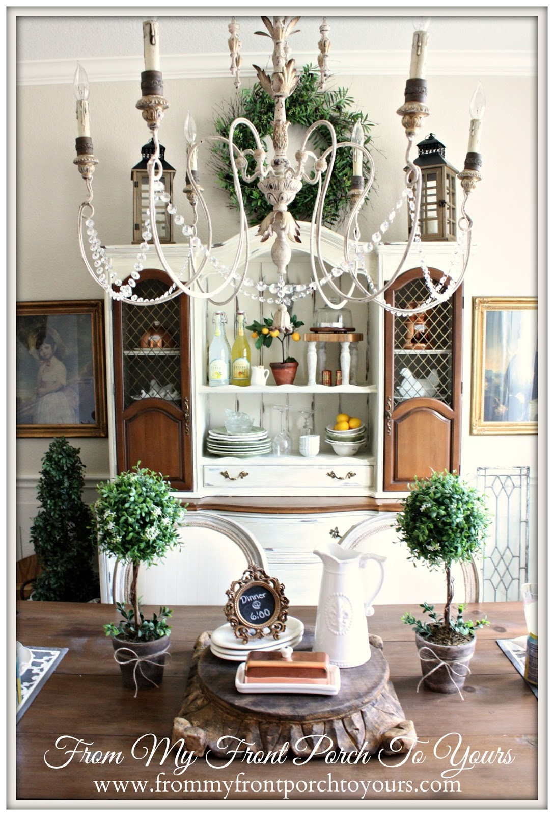 Dining Room Shelf Ideas From My Front Porch To Yours French Farmhouse Dining Room
