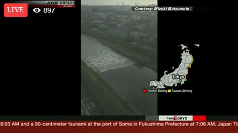 (Video Live) Fukushima Dilanda Gempa Bumi 7.4 Magnitud, Amaran Tsunami Dikeluarkan