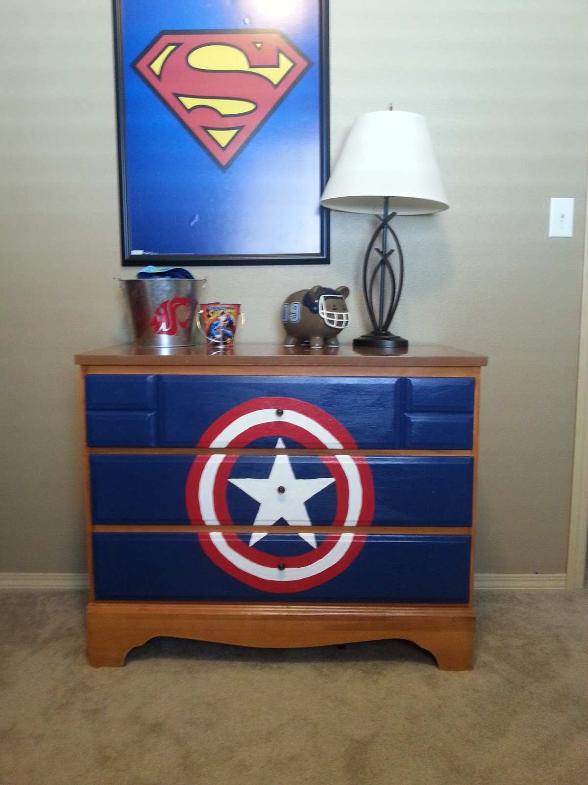 Well-liked Fall Apart With Joy : DIY Captain America Dresser VU93