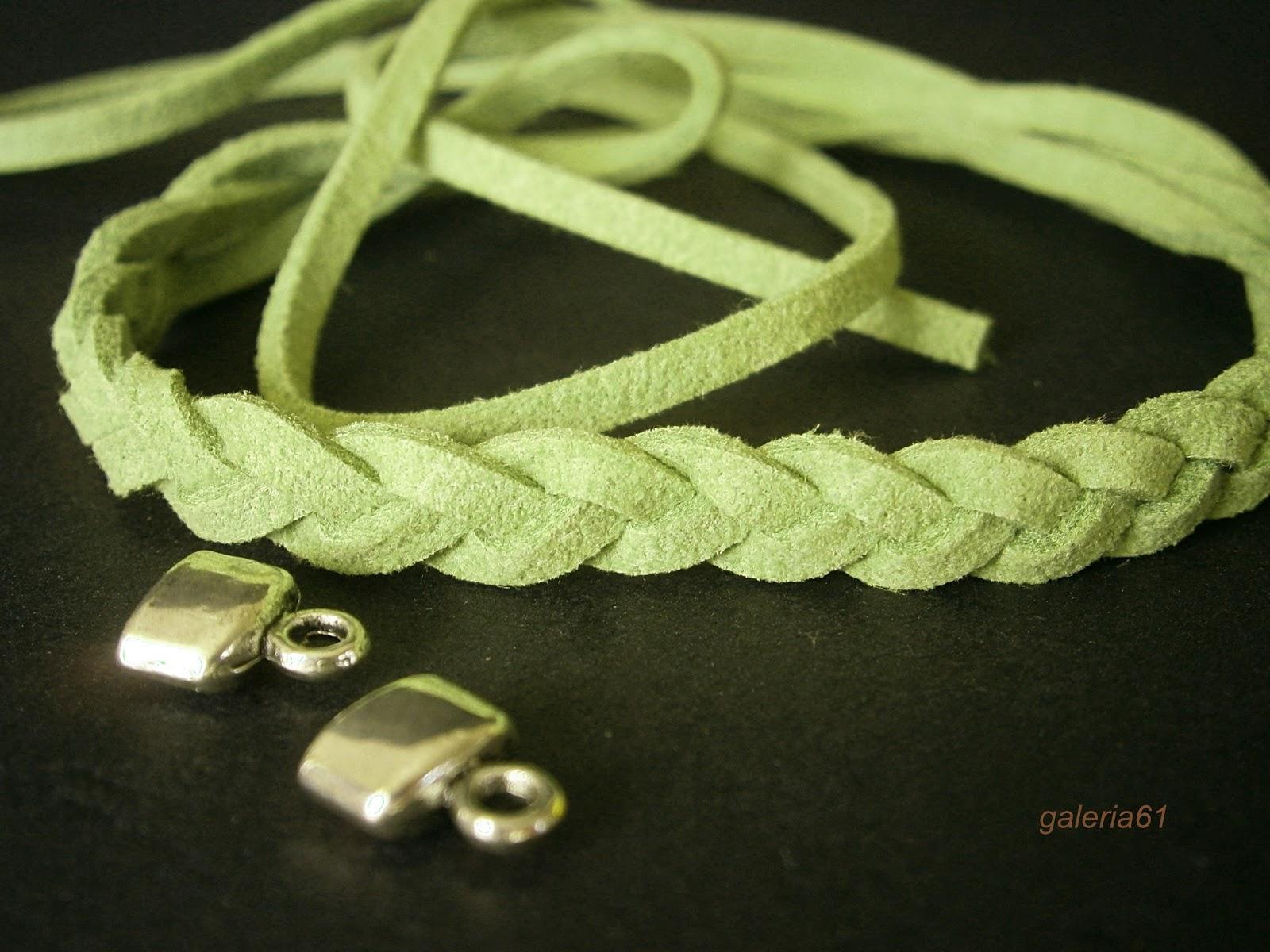 bransoletka rzemyk zielony