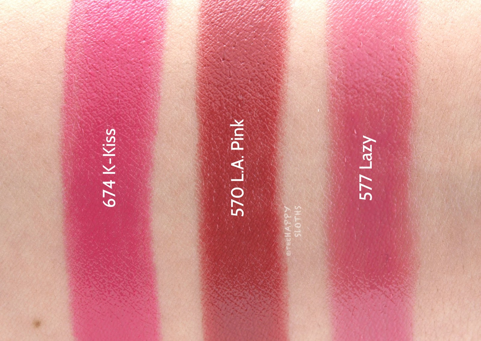 "Dior Addict Lacquer Stick ""674 K-Kiss"", ""570 L.A. Pink"", & ""577 Lazy"": Review and Swatches"