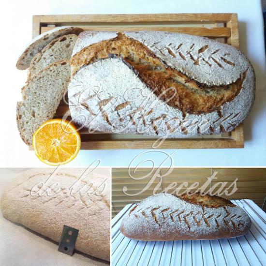 Pan de Espelta hecho con zumo de naranja y grañado con cuchilla de rasqueta