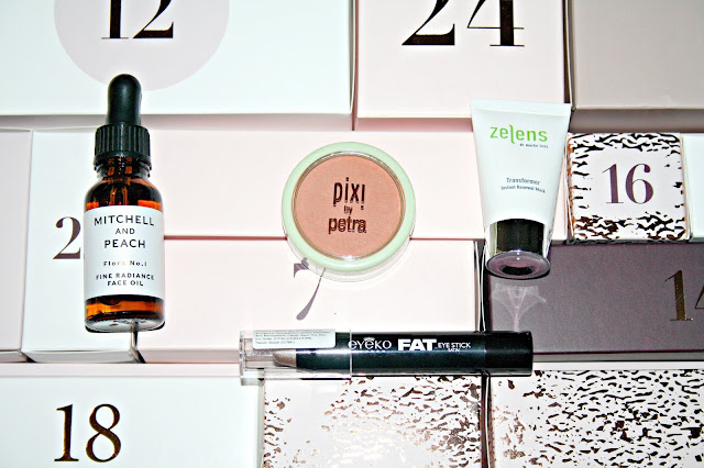 GLOSSYBOX BEAUTY ADVENT CALENDAR 2018 contents reveal and review ft. Huda Beauty, Nars, Pixi and more