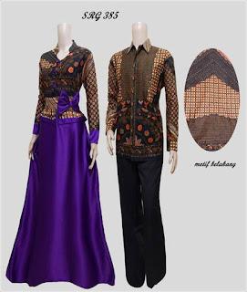 contoh baju couple batik lengan panjang