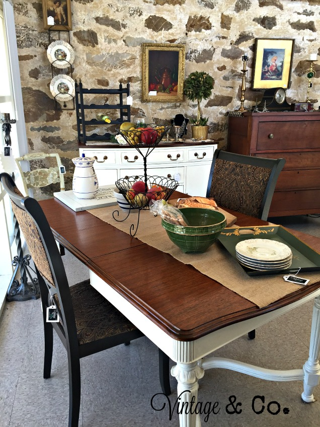He Refinished This Vintage Dining Room Table And Buffet Both Pieces Were From Other Sets
