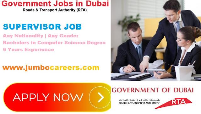 Dubai RTA Job vacancies 2018. Dubai RTA jobs for Engineers. Dubai RTA Job Salary.