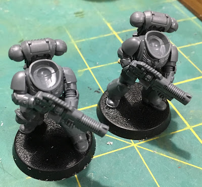 Deathwatch Primaris Hellblasters with assualt plasma front