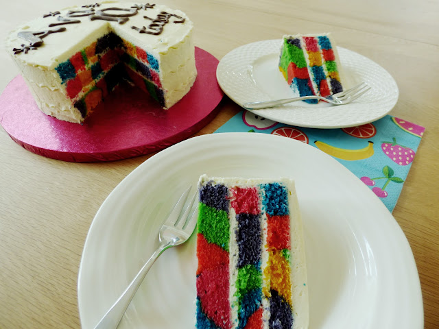 3 Layer Rainbow Cake Tye Tie Dye