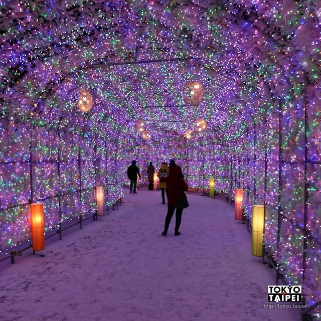 【洞爺湖溫泉賞燈隧道】40萬顆燈泡點滿70公尺隧道 太奢侈的燈節
