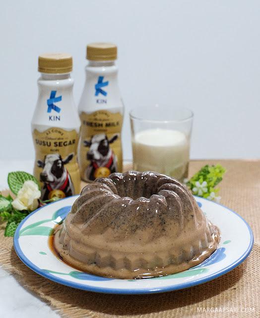 Resep Puding Kopi Susu dengan KIN Fresh Milk