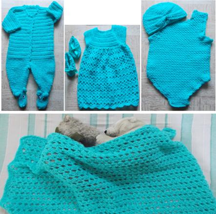 crochet baby layette pattern