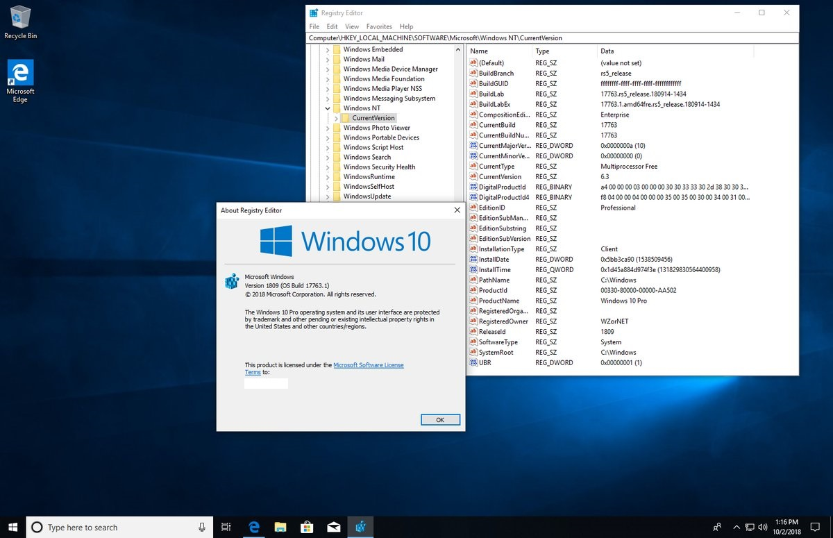 Download] ISO Windows 10 Redstone 5 - October 2018 Update