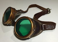 http://www.instructables.com/id/Steampunk-Goggles-Upcycle/