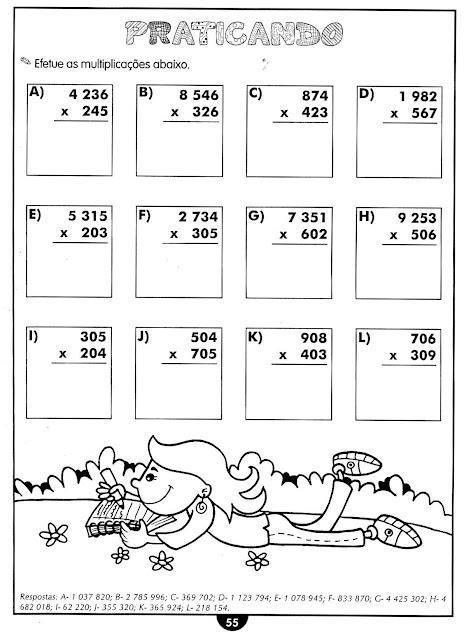 Atividades de matemática 5° ano para imprimir
