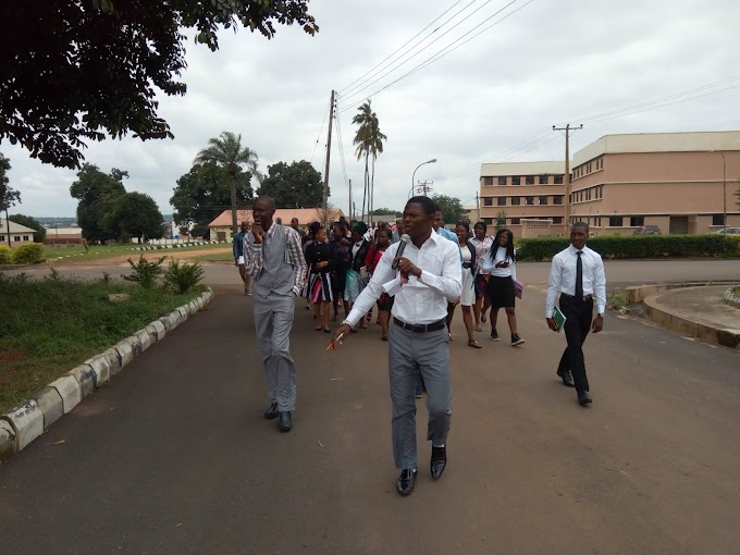 Ajayi Crowther University Management, Takes Fresh student's On An In-Campus Tour