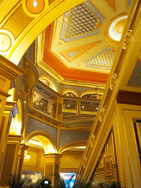 Details of the interior of The Venetian, Macau