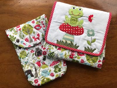 Conjunto cambiador bolsa pañales. Aplicaciones patchwork