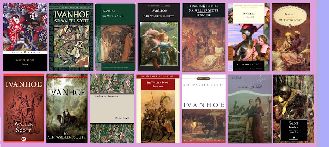 portadas de la novela clásica histórica de aventuras Ivanhoe, de Walter Scott