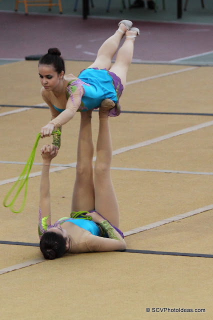 Rhythmic Gymnastics III - floor program ropes