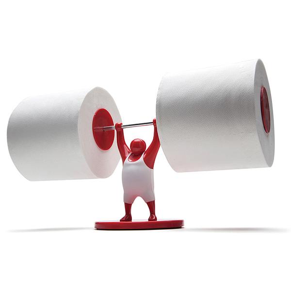 Stand para papel de baño muy cómico.