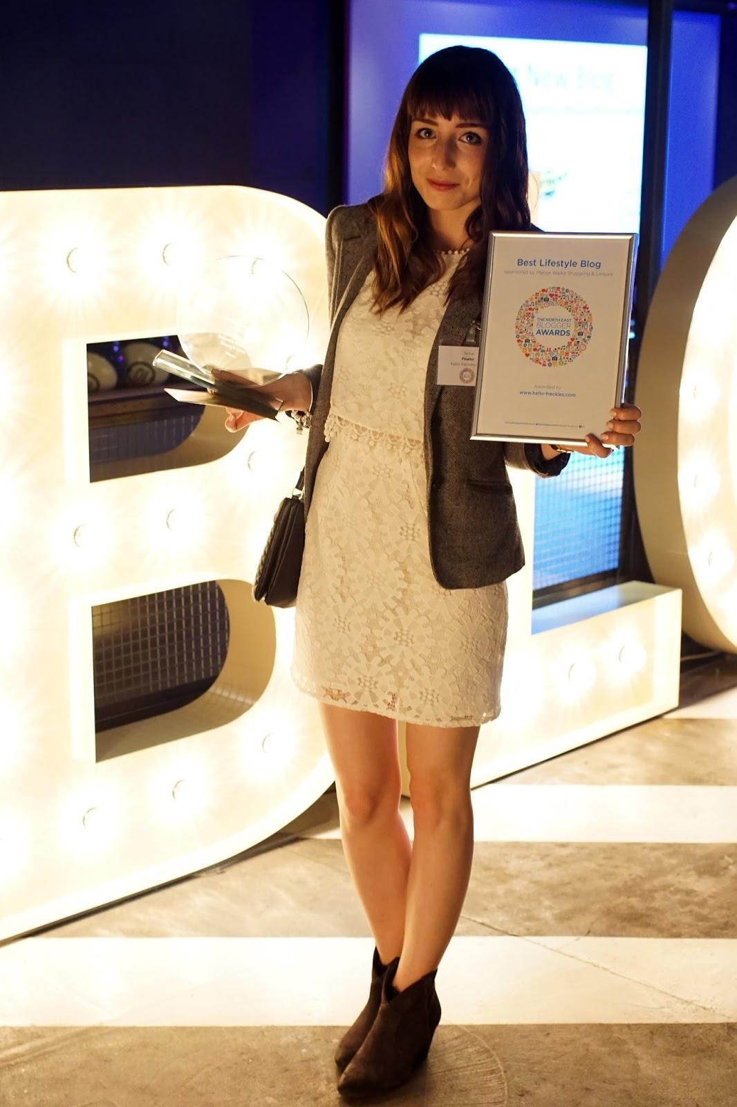 Hello Freckles North East Blogger Awards Best Lifestyle Blog