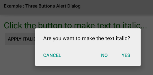 How to use AlertDialog in Android