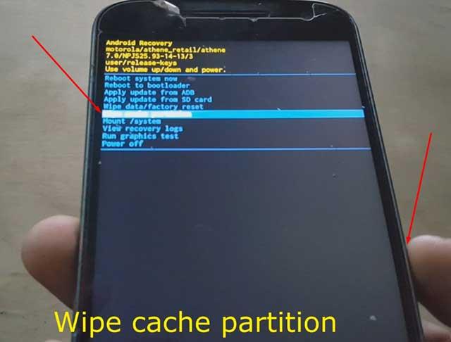 eliminar el cache del dispositivo moto g4