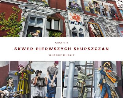 Skwer Pierwszych Słupszczan - mural kamienica
