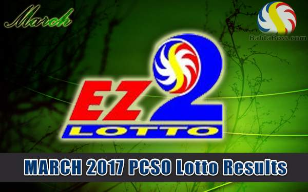 Results: March 2017 EZ2 2-Digit PCSO Lotto
